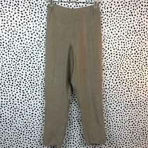FLAX Petite Oatmeal Colored Pants Size Petite